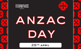 Anzac Day at Terminus Hotel