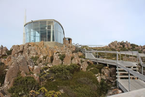 The lookout at Mt Wellington in Hobart